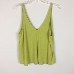 Free People Small Petite Green Oversized Top